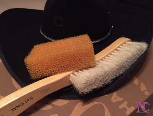 cleaning cowboy hat