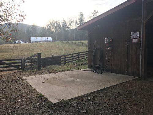 Shoal Creek Farm Wash Pad