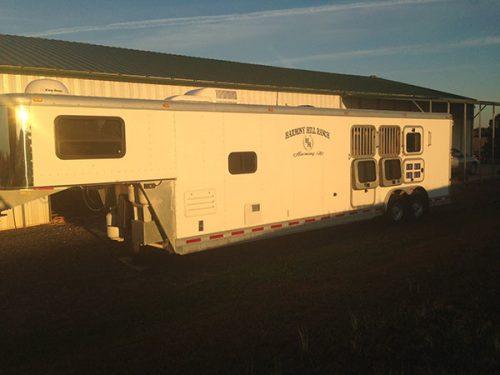 Adam living quarter horse trailer
