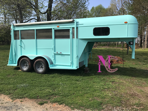 Newly Painted Horse Trailer