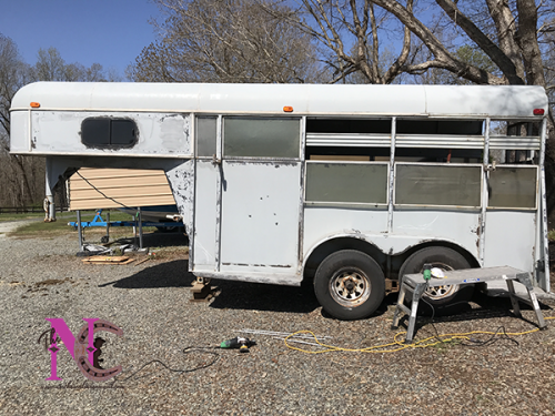 Sanded Down Horse Trailer