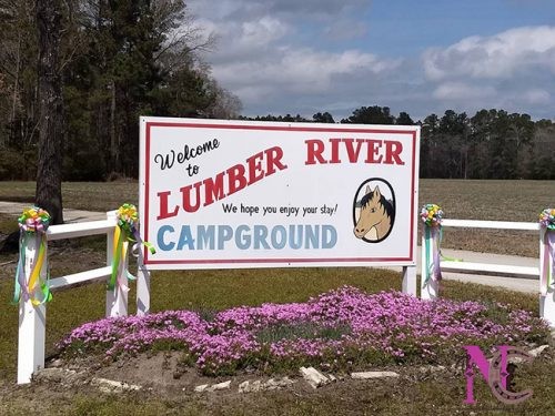 LumberRiver welcome sign