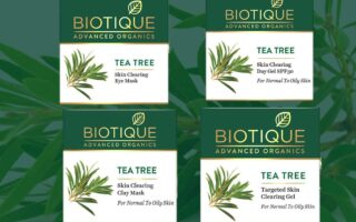 Biotique New Launch Tea Tree Skin Clearing Gel, Skin Clearing Face Mask, Skin Clearing Day Gel SPF30