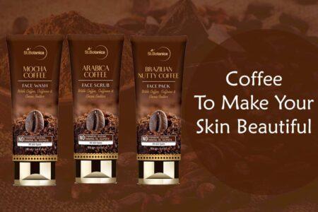 St.Botanica Arabica Coffee Scrub, Brazilian Nutty Coffee Face Pack & Mocha Coffee Face Wash