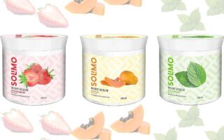 Strawberry, Papaya and Spearmint Body Scrub For Refreshed, Soft and Supple Skin