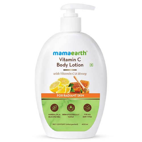 Mamaearth Vitamin C Body Lotion with Vitamin C & Honey for Radiant Skin