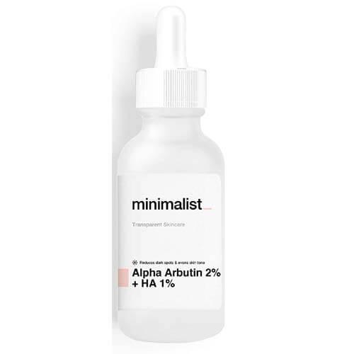 Minimalist Alpha Arbutin 2% + Hyaluronic Acid 1% Face Serum