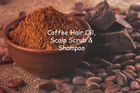 mCaffeine Naked & Raw Coffee Hair Oil, Coffee Scalp Scrub & Coffee Shampoo