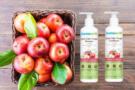 Mamaearth Apple Cider Vinegar Shampoo & Apple Cider Vinegar Conditioner for Long & Shiny Hair