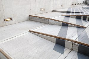 Image of inaccessible stair steps