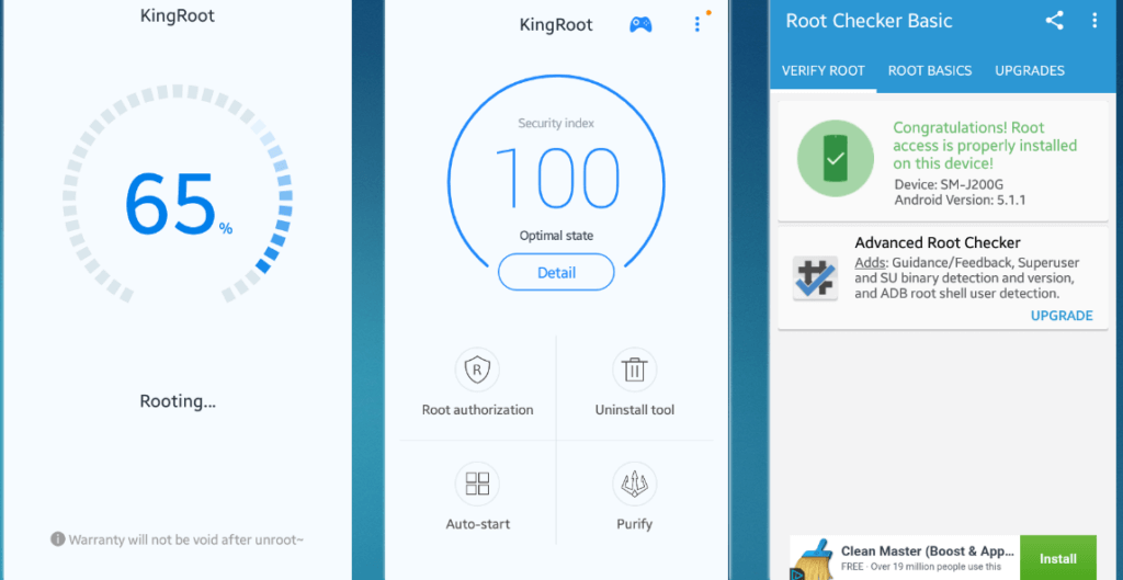 Root android phone without computer using King Root