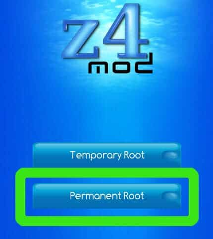 Root android phone without computer using z4root