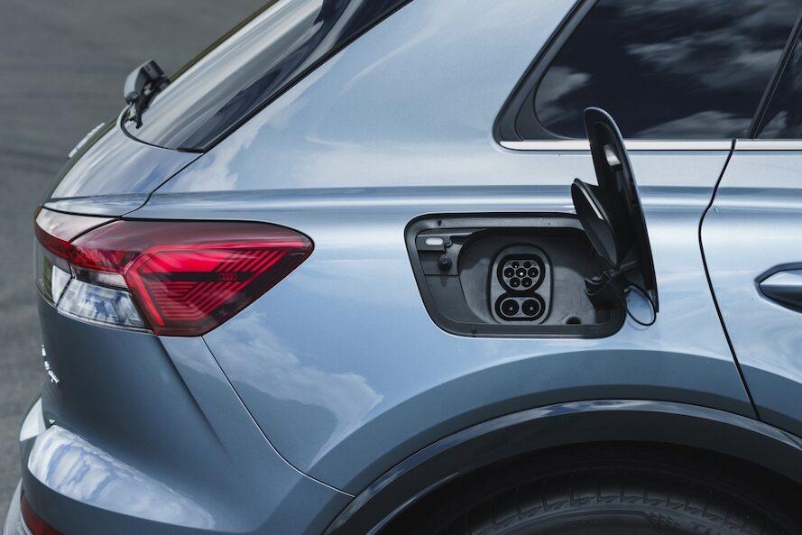 Audi Q4 e-tron charge port - EVs Unplugged