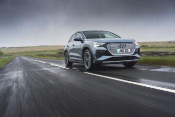 Audi Q4 e-tron front moving - EVs Unplugged