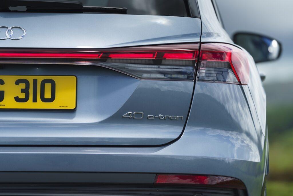 Audi Q4 e-tron rear badge - EVs Unplugged