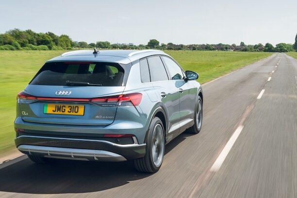 Audi Q4 e-tron rear driving - EVs Unplugged