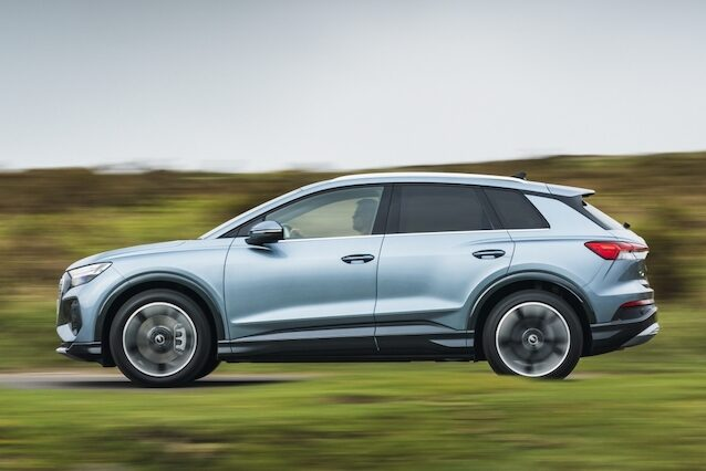 Audi Q4 e-tron side driving - EVs Unplugged