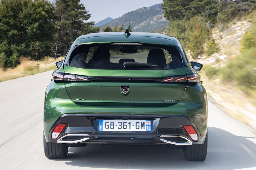 Peugeot 308 Plug-In Hybrid rear driving - EVs Unplugged