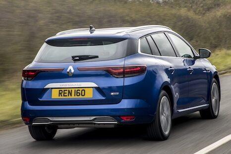 Renault Megane Sport Tourer Plug-In Hybrid rear driving - EVs Unplugged