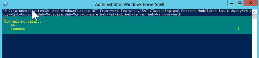 Windows PowerShell:- Importing modules and adding Roles and