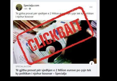 Nuk ka politikan të dyshuar në vjedhjen e mbi 2 milionë eurove