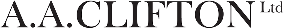 A.A. Clifton Text Logo linked to Home page