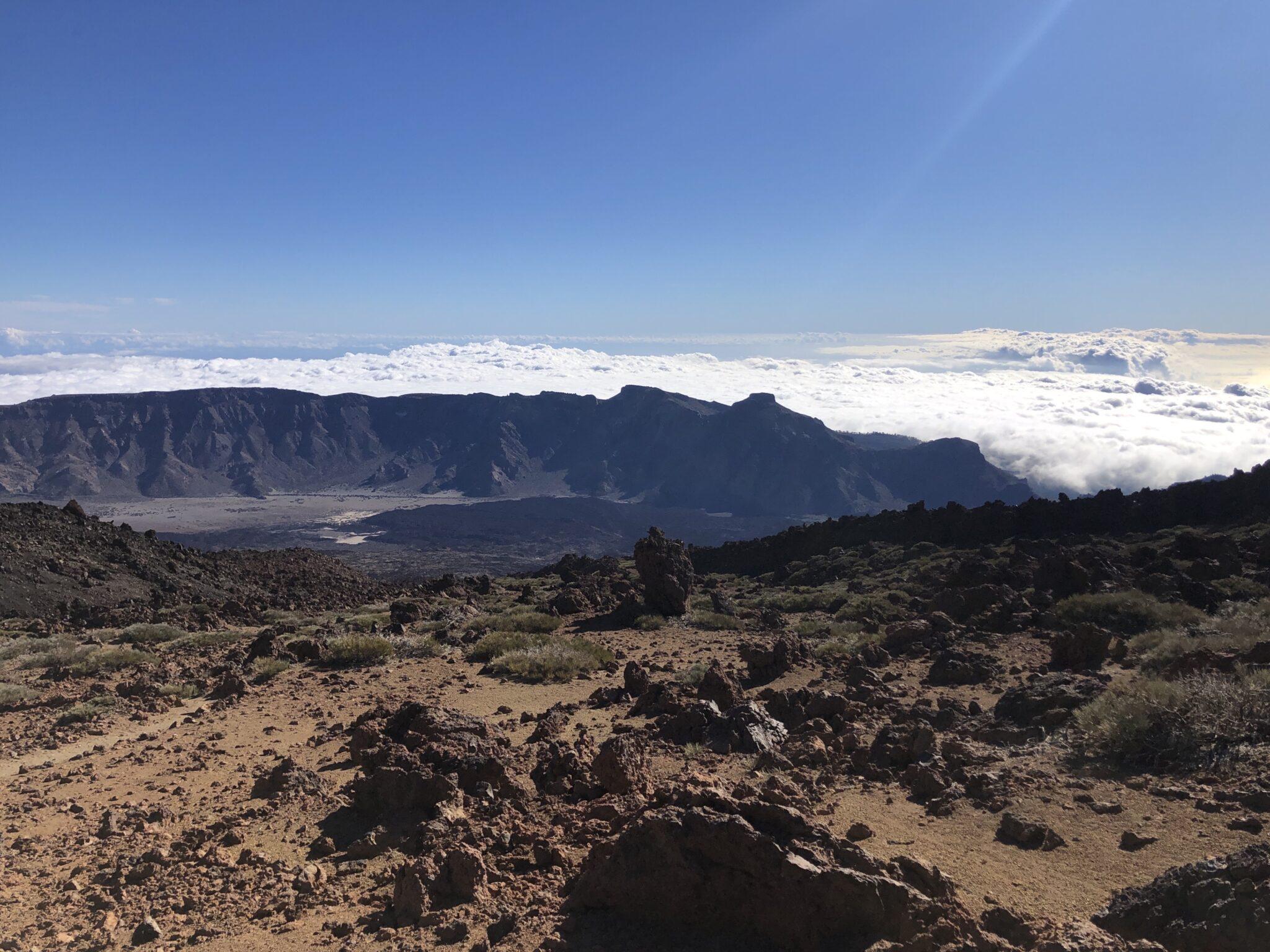 Kraterwand van Las Cañadas del Teide
