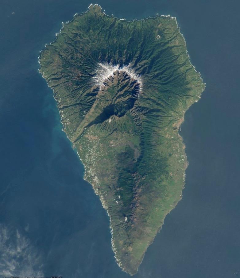 La Palma satelietfoto