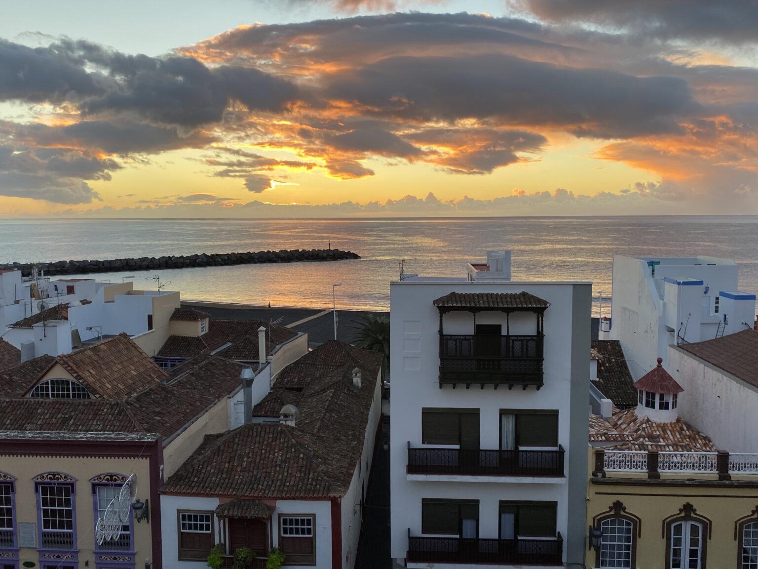 Zonsopkomst bij Santa Cruz de la Palma