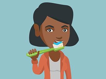 Clean denture teeth