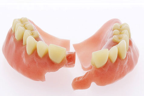 Fix broken dentures