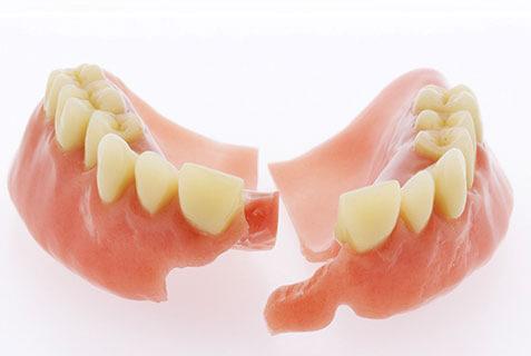 Fix broken dentures