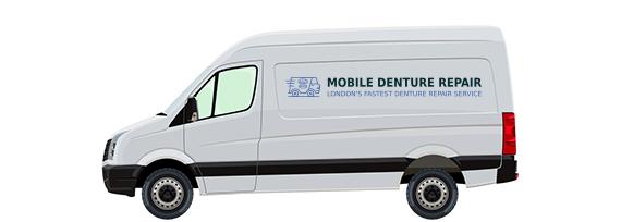 Mobile denture repair London