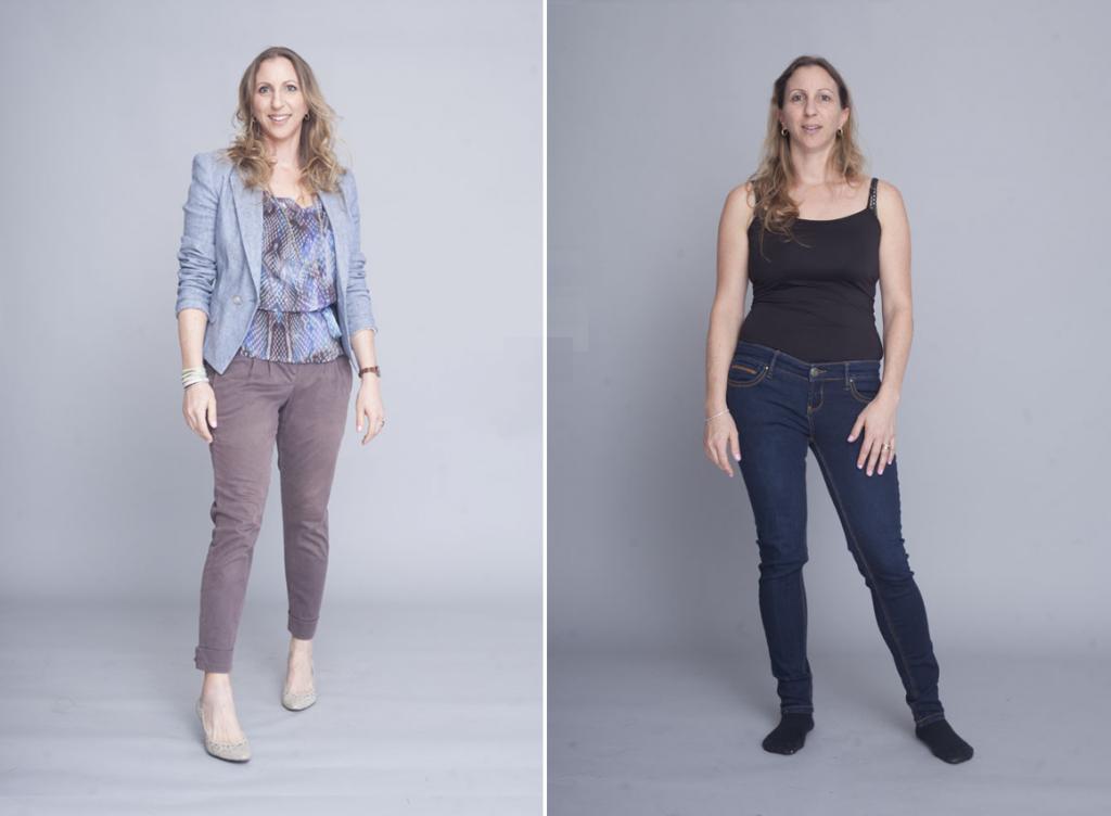 סטייליסטית רותי טרבס, מיתוג אישי, לפני אחרי, לפני ואחרי, סדנת סטיילינג