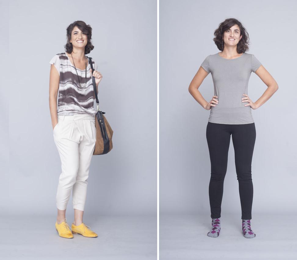 סטייליסטית רותי טרבס, תמונה של לפני ואחרי סטיילינג, מייקאובר