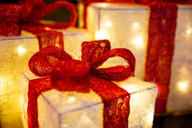 presents with lights in