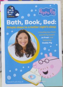 jo frost and daddy pigs advice booklet for bath book and bed routine