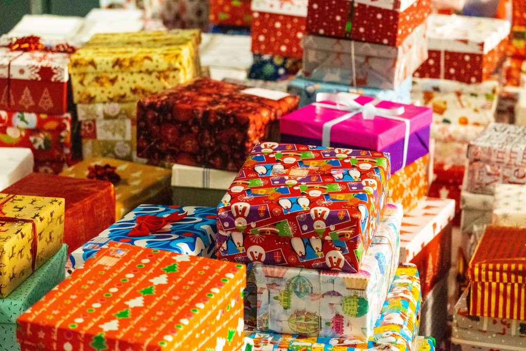 a big pile of presents