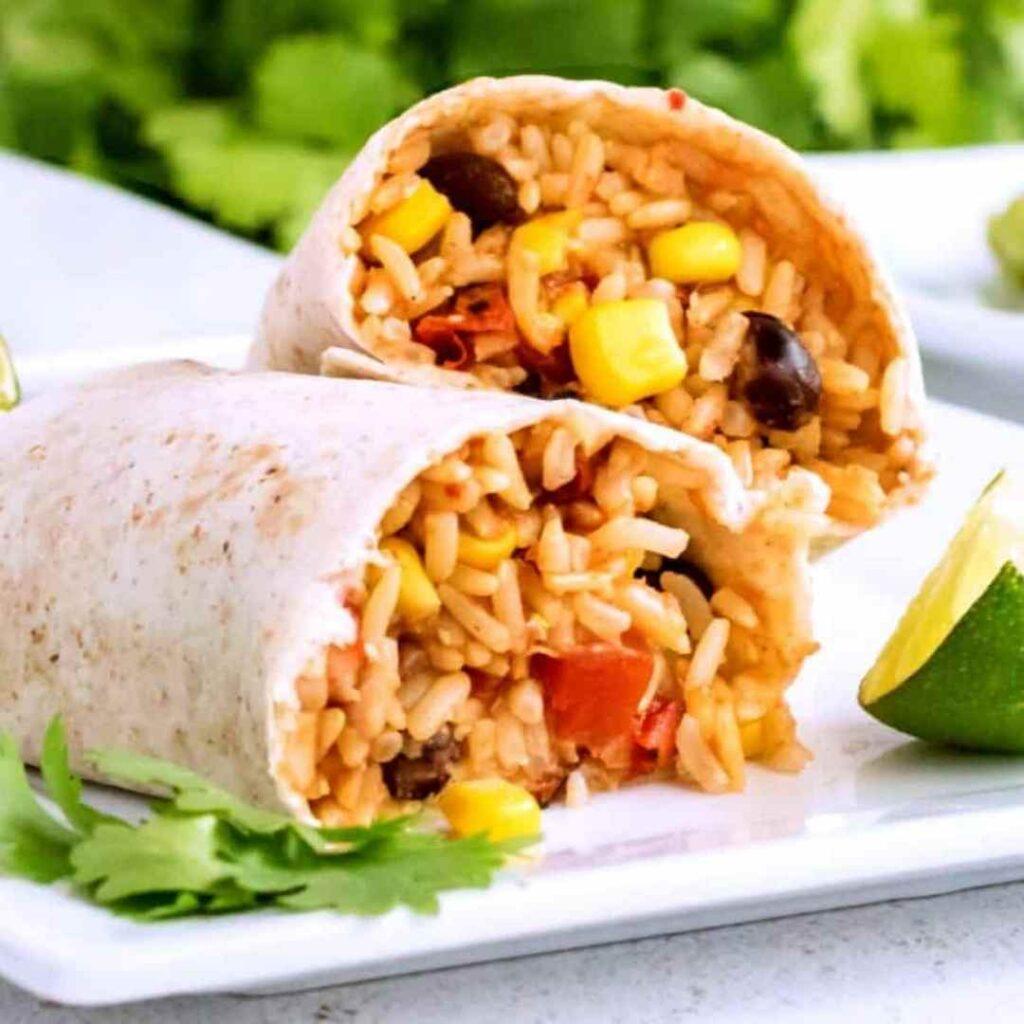 Vegetarian Mexican Burritos Recipe