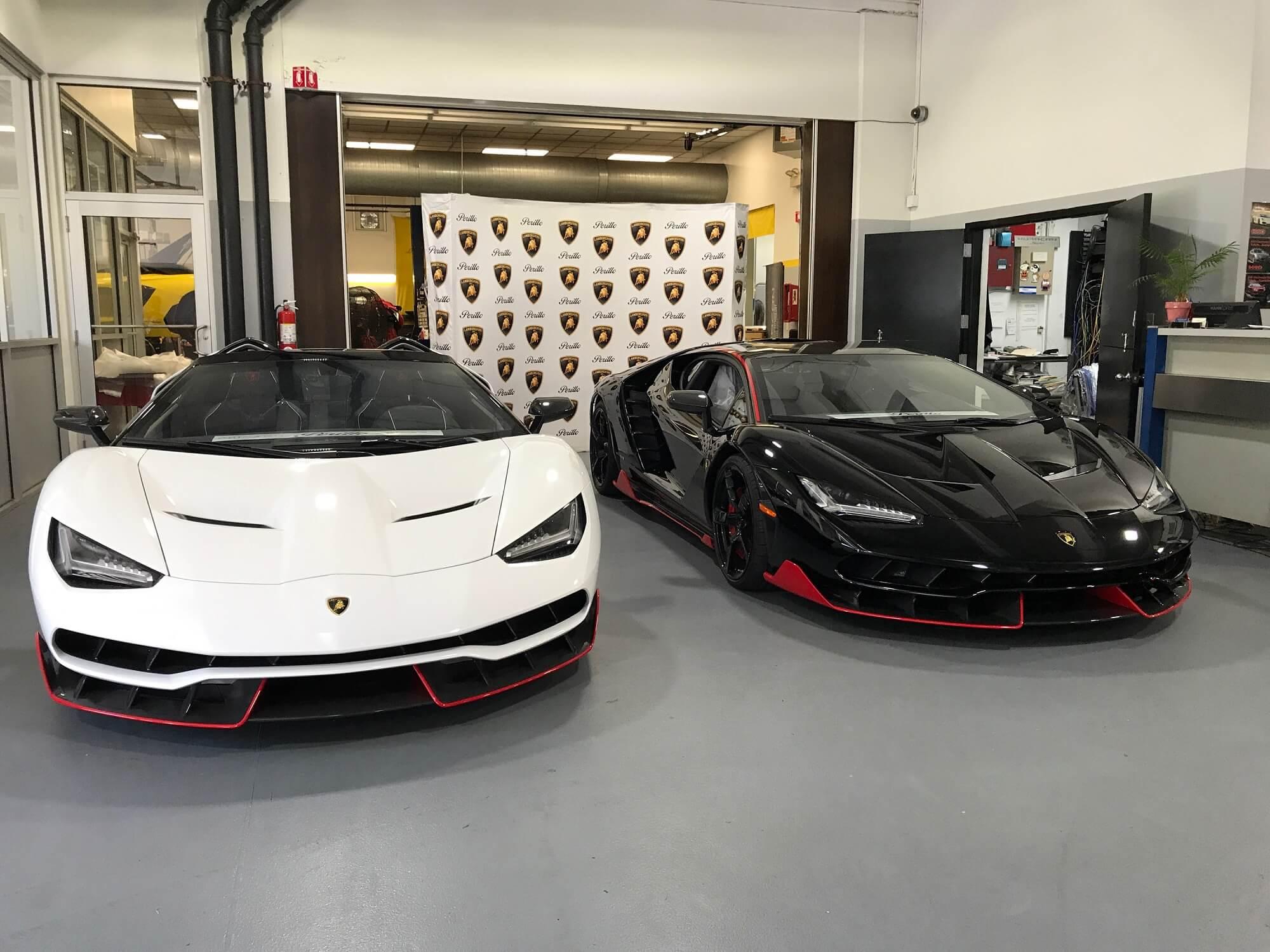 Two Lamborghini Centenario's