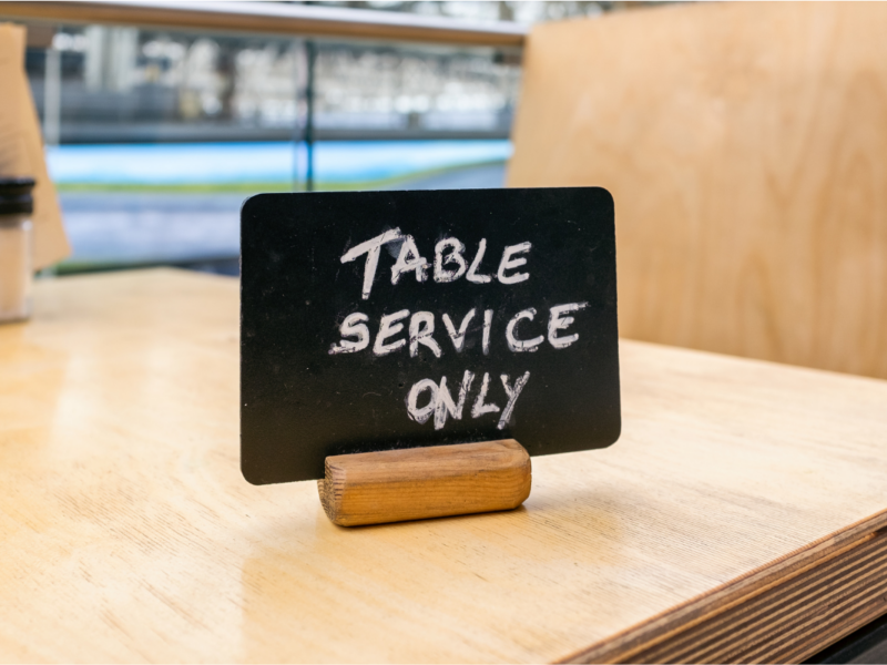 Are we ready to give up table service?