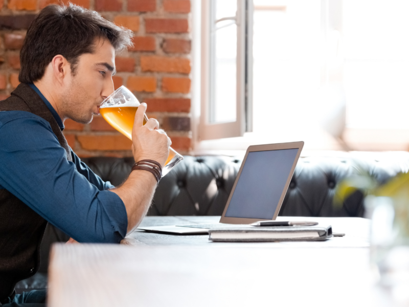 Remote working in pubs and restaurants