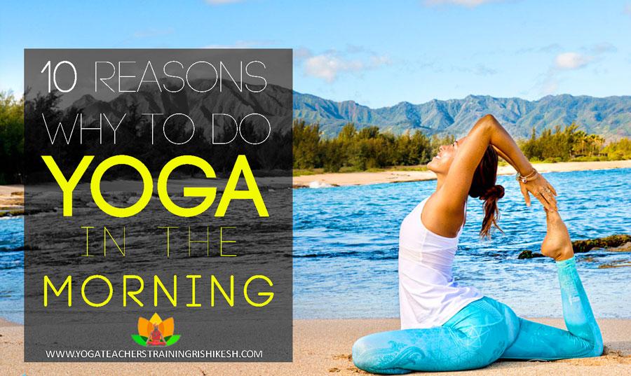 do yoga in morning