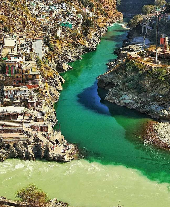 Bhagirathi and Alaknanda at Devprayag