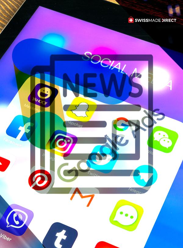 social media, newsletter, google ads SMD