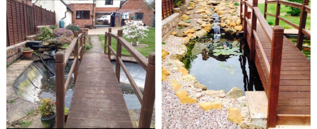 Pond features refurbishment