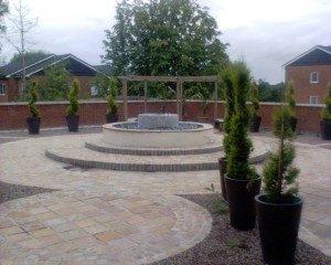 Garden design with patio