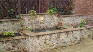 simple garden wall design