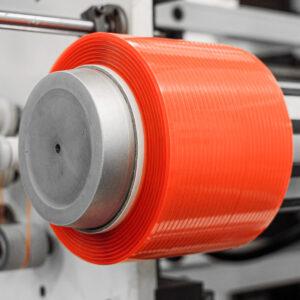Adhesive tape bobbin winder