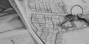 Housing plot image with new house keys